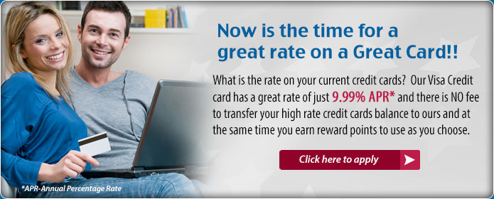 Credit Card as low as 9.99%. Apply Today.