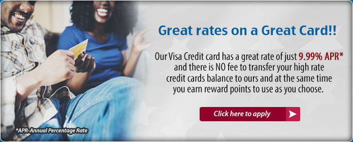 VISA Card as low as 9.99% APR. Apply Today